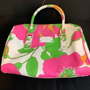 ♠️ Kate Spade Satchel White with 🌸 Flowers